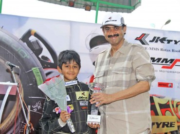 1st Runner up in Series JK Tyre MMS Rotax Rookie Cup 2012