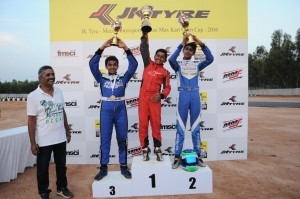 Vice Champion JK Tyre MMS Rotax Max Rookie Champion 2016