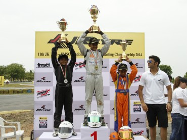 Winner, Round - 1 JK Tyre National Rotax Max Karting Championship India 2014