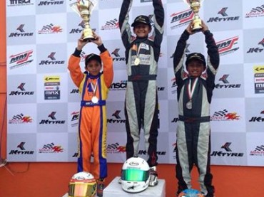 Winner, Round - 4 JK Tyre  National Rotax Max Karting Championship India 2014