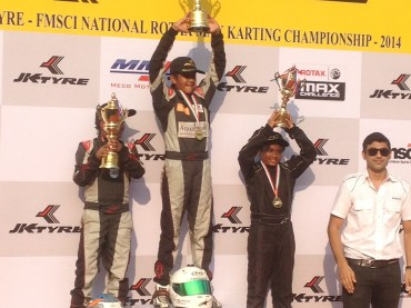 Winner, Round - 5 JK Tyre  National Rotax Max Karting Championship India 2014
